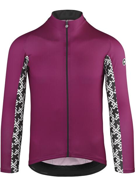 assos Mille GT Koszulka kolarska, długi rękaw Mężczyźni fioletowy